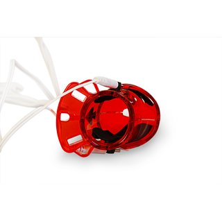Peniskäfig  Electro Sex Cockcage e-stimulation Birdlocked Male Chastity device für den Mann in rot BDSM